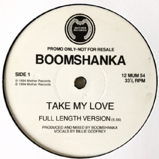 "Boomshanka ‎- Take My Love (12"") (Promo) (VG/NM)"